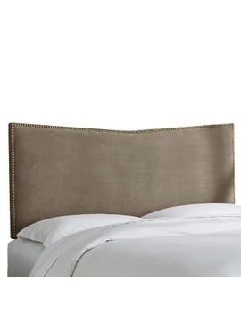 Nail Button Headboard Twin Velvet Otter   Project 62™ by Project 62™