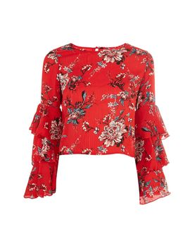 **Tiered Sleeve Blouse By Glamorous Petites by Topshop