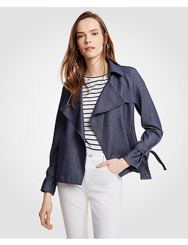 Chambray Trench Coat by Ann Taylor
