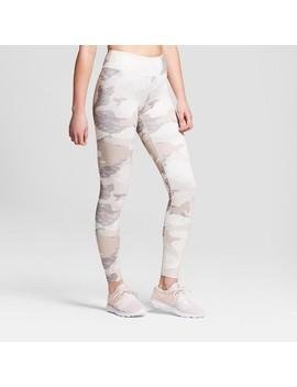 Women's Camo Print Performance Leggings   Joy Lab™ Beige L by Joy Lab™