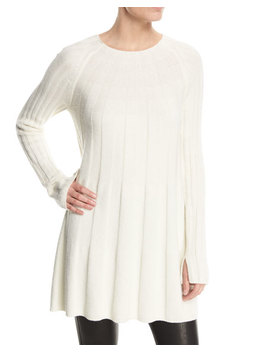 Gerri Crewneck Ribbed Swing Sweater Dress by Elizabeth And James