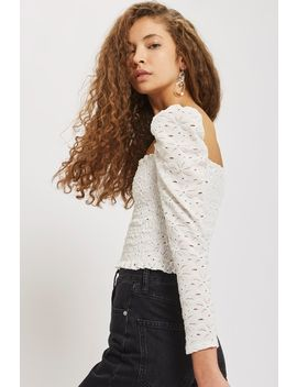 Long Sleeve Lace Top by Topshop