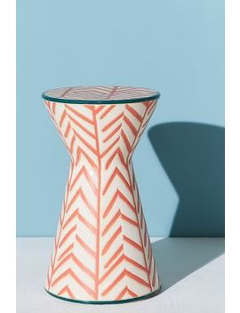 Twill Ceramic Indoor/Outdoor Side Table by Tracey Boyd