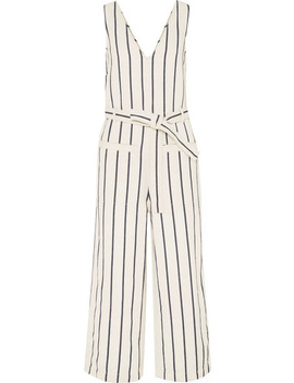 Striped Cotton And Linen Blend Jumpsuit by Madewell