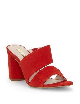 Kapa Suede Block Heel Dress Mules by Louise Et Cie