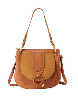 Hana Leather And Suede Tote Bag by See By Chloe