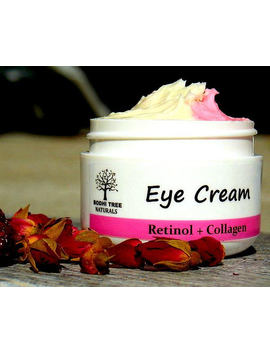 Anti Aging Eye Cream/Retinol + Collagen With Eye Brigthening Rose Hips Oil   Eye Wrinkle Cream Non Gmo Collagen   Handmade Natural Skin Care by Etsy