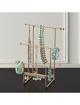Ancient Jewelry Organizer Tree Stand In Brass by Bed Bath And Beyond