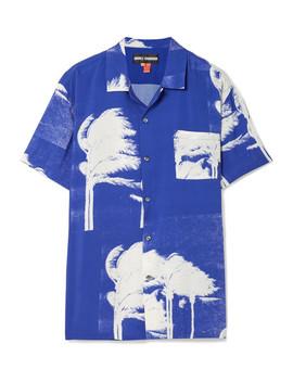 Printed Poplin Shirt by Double Rainbouu
