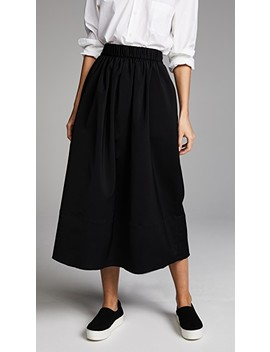 Smocked Waistband Full Skirt by Tibi