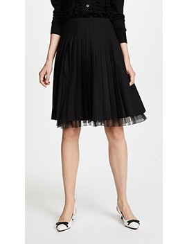 Pleated Wool Skirt by Marc Jacobs