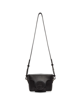 Black Leather Camera Bag by Neil Barrett