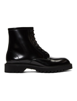 Black Liverpool Army Boots by Saint Laurent