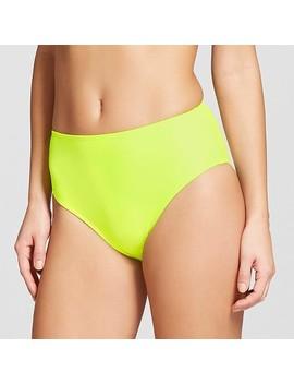 Women's High Waist High Leg Cheeky Bikini Bottom   Xhilaration™ Yellow by Shop This Collection