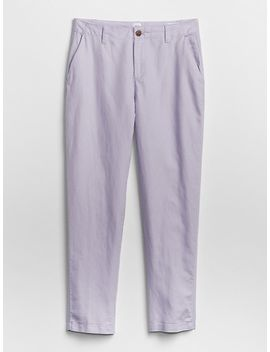 Girlfriend Twill Stripe Chinos In Linen Cotton by Gap