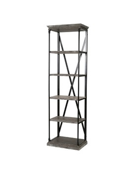 "Appleton Five Shelf 24""W Industrial Bookcase   Christopher Knight Home by Christopher Knight Home"