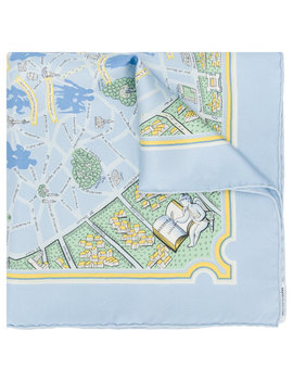 Paris Map Scarf by Hermès Vintage