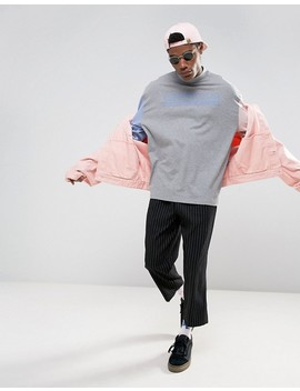 Asos Oversized Long Sleeve T Shirt With Temptation Print & Turtle Neck by Asos