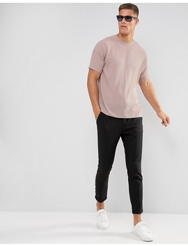 Asos Oversized T Shirt In Woven Crepe In Pink by Asos