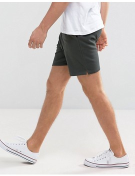 Asos Jersey Short In Dark Khaki by Asos