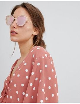 River Island Marble Effect Cat Eye Sunglasses by River Island