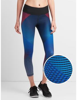G Fast Mid Rise Print 7/8 Leggings by Gap