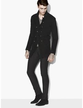 Double Breasted Suede Cutaway Jacket by John Varvatos