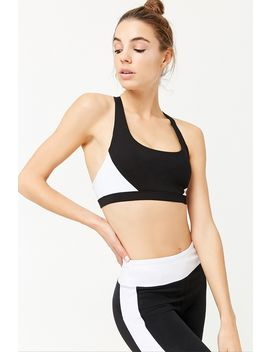 Medium Impact   Colorblocked Sports Bra by Forever 21
