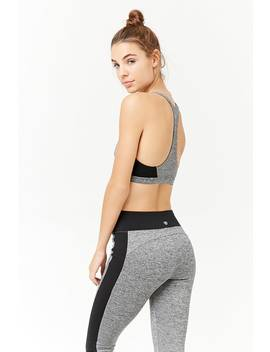 Medium Impact   Marled Sports Bra by Forever 21