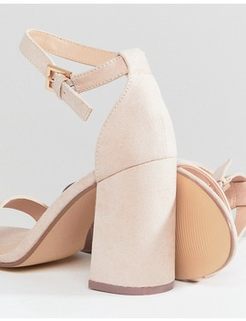 London Rebel Barely There Block Heel Sandal by Shoes