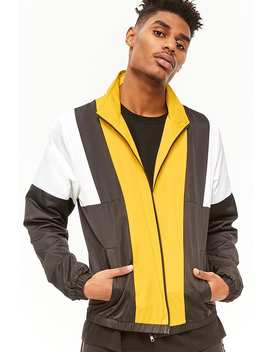 Colorblocked Track Jacket by F21 Contemporary