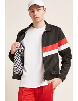 Contrast Stripe Jacket by F21 Contemporary