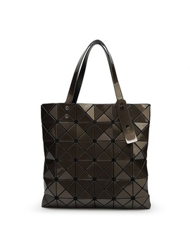Yutuo Handbag Bao Bao Bag Female Folded Geometric Plaid Bag Bao Bao Fashion Casual Tote Women Handbag Mochila Shoulder Bag by Yt Online Store