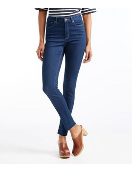 Signature Skinny Ankle Jeans, Raw Hem by L.L.Bean