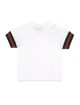 Short Sleeve Slub Jersey Tee, Size 6 36 Months by Gucci