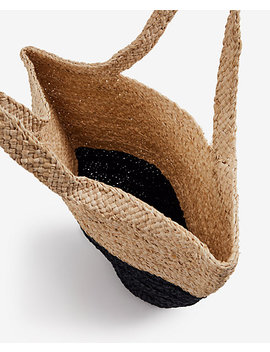 Colorblock Straw Bag by Ann Taylor