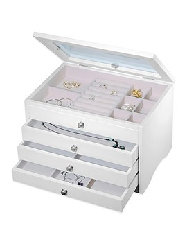 Elegant Jewelry Box In White by Bed Bath And Beyond
