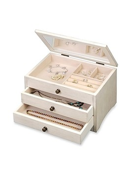 Antique Jewelry Box In White by Bed Bath And Beyond