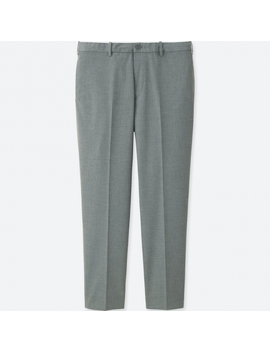 Men Relaxed Ankle Length Pants by Uniqlo