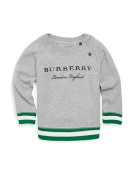 Baby's & Toddler's Logo Cotton Sweater by Burberry