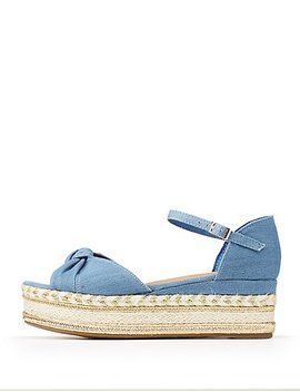 Bamboo Ankle Strap Espadrille Sandals by Charlotte Russe
