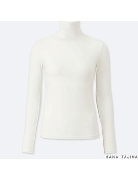 Women Ai Rism High Neck Long Sleeve T Shirt by Uniqlo