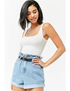 Ribbed Scalloped Tank Top by Forever 21