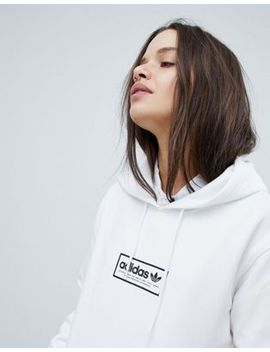 Adidas Skateboarding Hoodie In White With Central Logo by Adidas