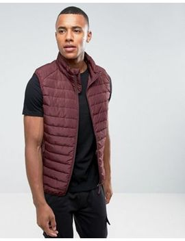 Celio Padded Vest In Burgundy by Celio