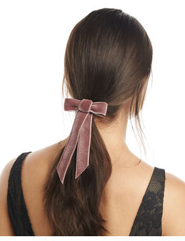 Velvet Bow Barrette by Jennifer Behr