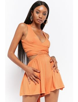 Cutout Wraparound Romper by Forever 21