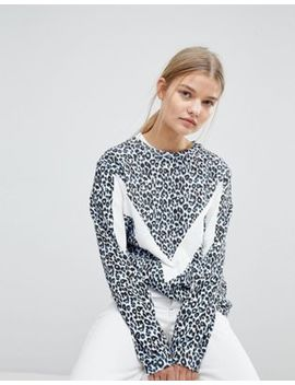 Max&Co Sweat Top In Leopard Print by Max&Co