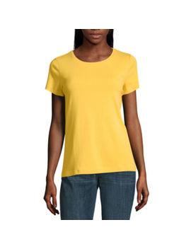 St. John's Bay Short Sleeve Crew Neck T Shirt Womens by St. John`s Bay