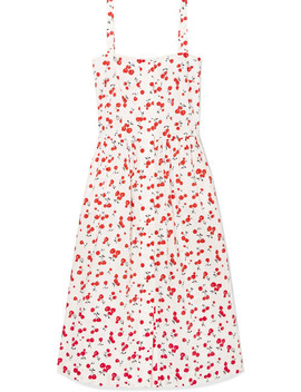 Laura Printed Cotton Midi Dress by Hvn